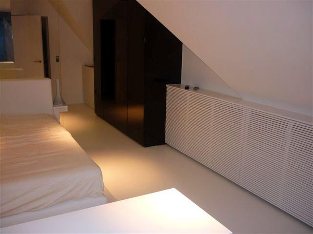 Pu gietvloer mechelen slaapkamer rg design
